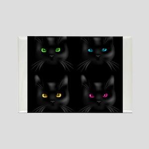 Black Cat Pattern Magnets