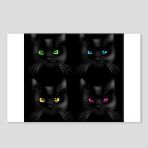 Black Cat Pattern Postcards (Package of 8)
