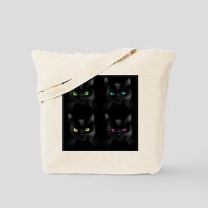 Black Cat Pattern Tote Bag