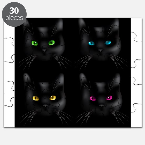 Black Cat Pattern Puzzle