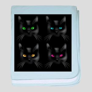 Black Cat Pattern baby blanket