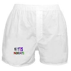 I HATE MONDAYS (COLORFUL LETTERS) Boxer Shorts