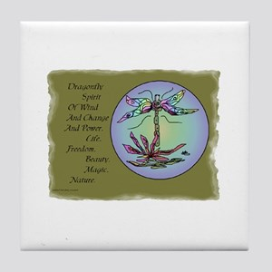 Dragonfly Bright Tile Coaster