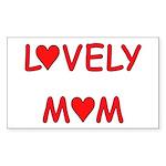 Lovely Mom Rectangle Sticker