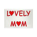 Lovely Mom Rectangle Magnet