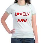 Lovely Mom Jr. Ringer T-Shirt