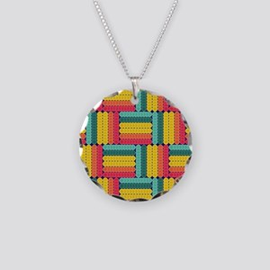 Soft spheres pattern Necklace Circle Charm
