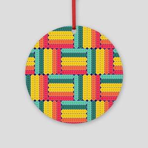 Soft spheres pattern Round Ornament