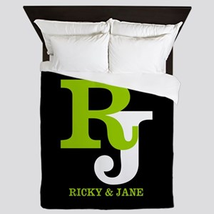 Modern Monogram Queen Duvet