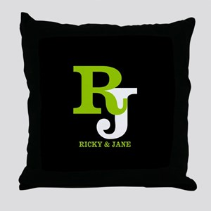 Modern Monogram Throw Pillow