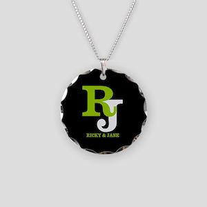 Modern Monogram Necklace Circle Charm