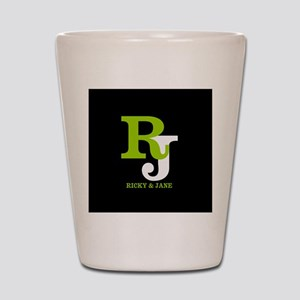 Modern Monogram Shot Glass