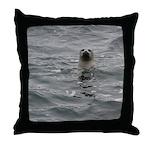 Harbor Seal Throw Pillow