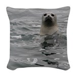 Harbor Seal Woven Throw Pillow
