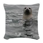 Harbor Seal Woven Throw Pillow