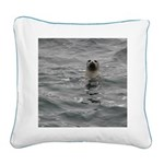 Harbor Seal Square Canvas Pillow