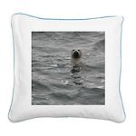 Harbor Seal Square Canvas Pillow