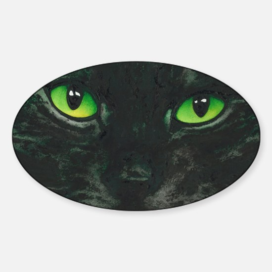 Black Cat Nebula by Lori Alexander Sticker (Oval)