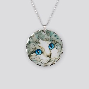 Ragdoll Cat Michelle by Lori Necklace Circle Charm