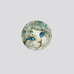 Ragdoll Cat Michelle by Lori Alexander Mini Button