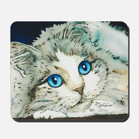 Ragdoll Cat Michelle by Lori Alexander Mousepad