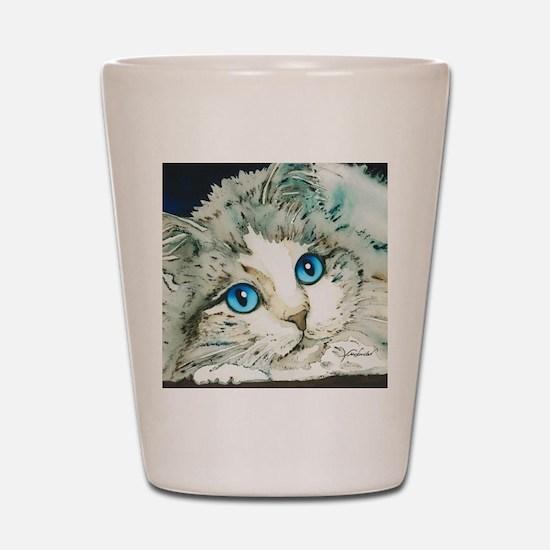 Ragdoll Cat Michelle by Lori Alexander Shot Glass