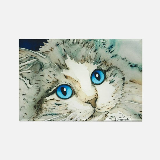 Ragdoll Cat Michelle by Lori Alex Rectangle Magnet