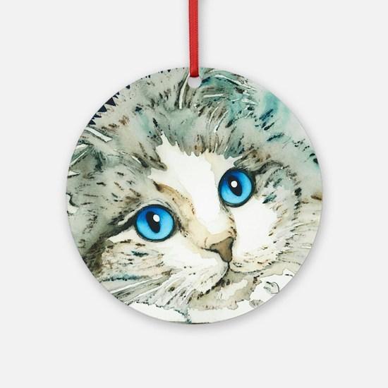 Ragdoll Cat Michelle by Lori Alexan Round Ornament