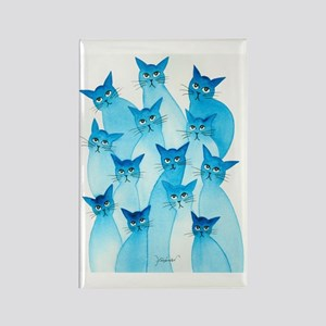 Paris Stray Cats by Lori Alexande Rectangle Magnet