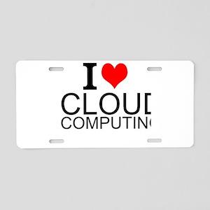 I Love Cloud Computing Aluminum License Plate