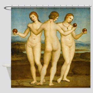 Three Graces (by Raphael) Shower Curtain
