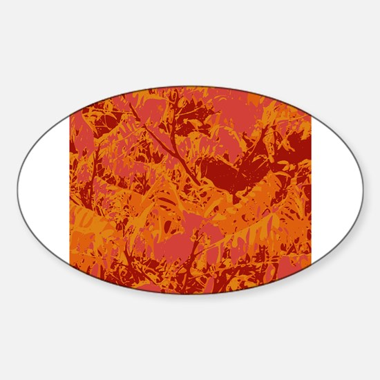 Orange Abstract Decal