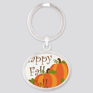 Happy Fall Y'all Oval Keychain