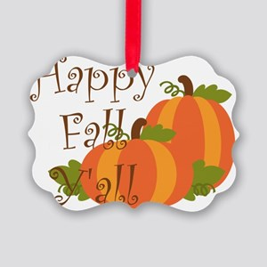 Happy Fall Y'all Picture Ornament