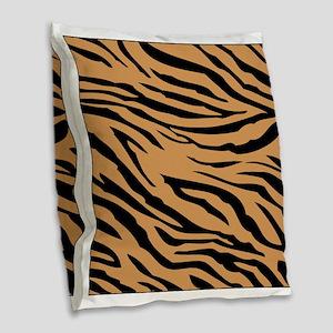 Tiger Stripes Burlap Throw Pillow