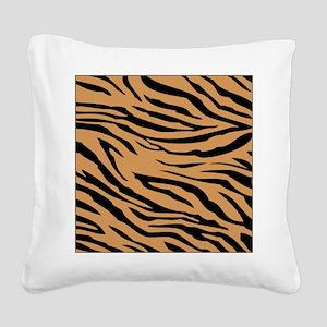 Tiger Stripes Square Canvas Pillow
