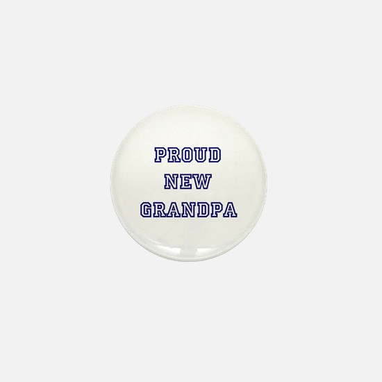 Proud New Grandpa Mini Button