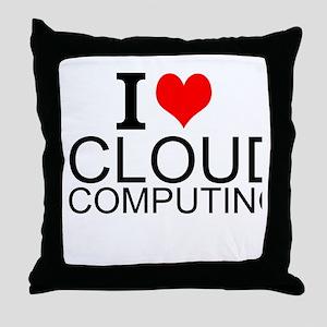 I Love Cloud Computing Throw Pillow