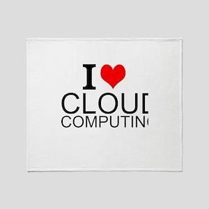 I Love Cloud Computing Throw Blanket