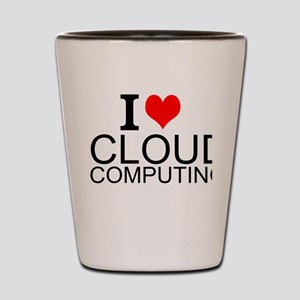 I Love Cloud Computing Shot Glass