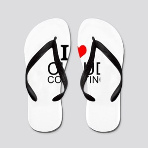 I Love Cloud Computing Flip Flops