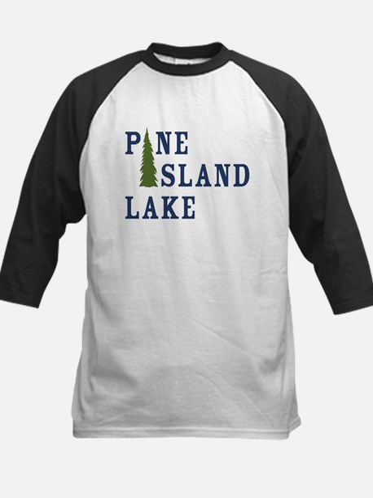 Pine Island Lake with tree only Baseball Jersey