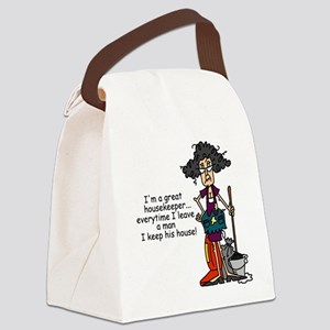 Relationship Humor Canvas Lunch Bag