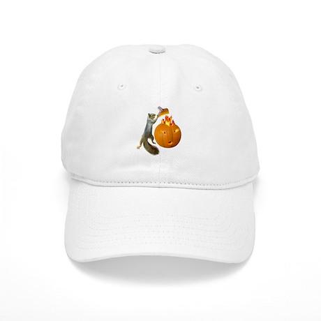 Squirrel Burning Pumpkin Cap