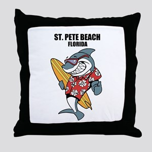 St. Pete Beach, Florida Throw Pillow