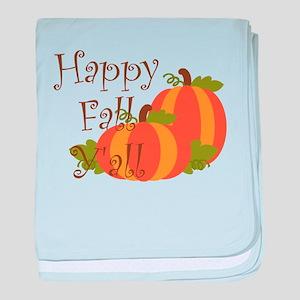 Happy Fall Y'all baby blanket