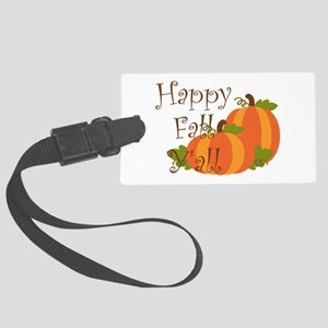 Happy Fall Y'all Luggage Tag