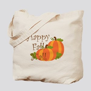Happy Fall Y'all Tote Bag