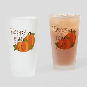 Happy Fall Y'all Drinking Glass
