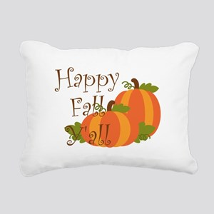 Happy Fall Y'all Rectangular Canvas Pillow